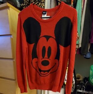 Women's Disney Mickey Mouse Red Sweater